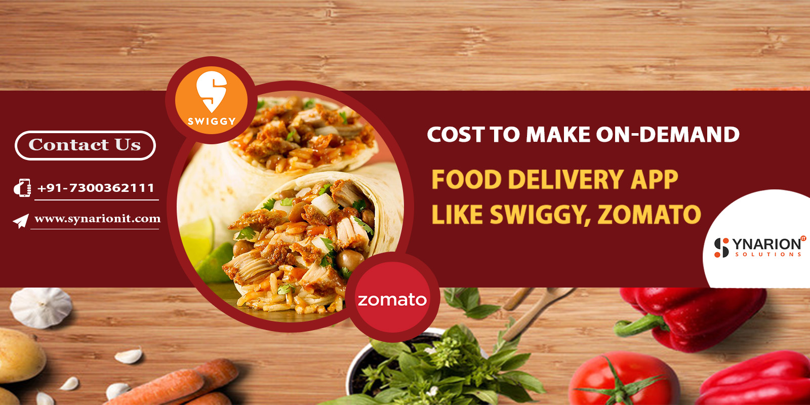 Cost To Make On-Demand Food Delivery App Like Swiggy, Zomato