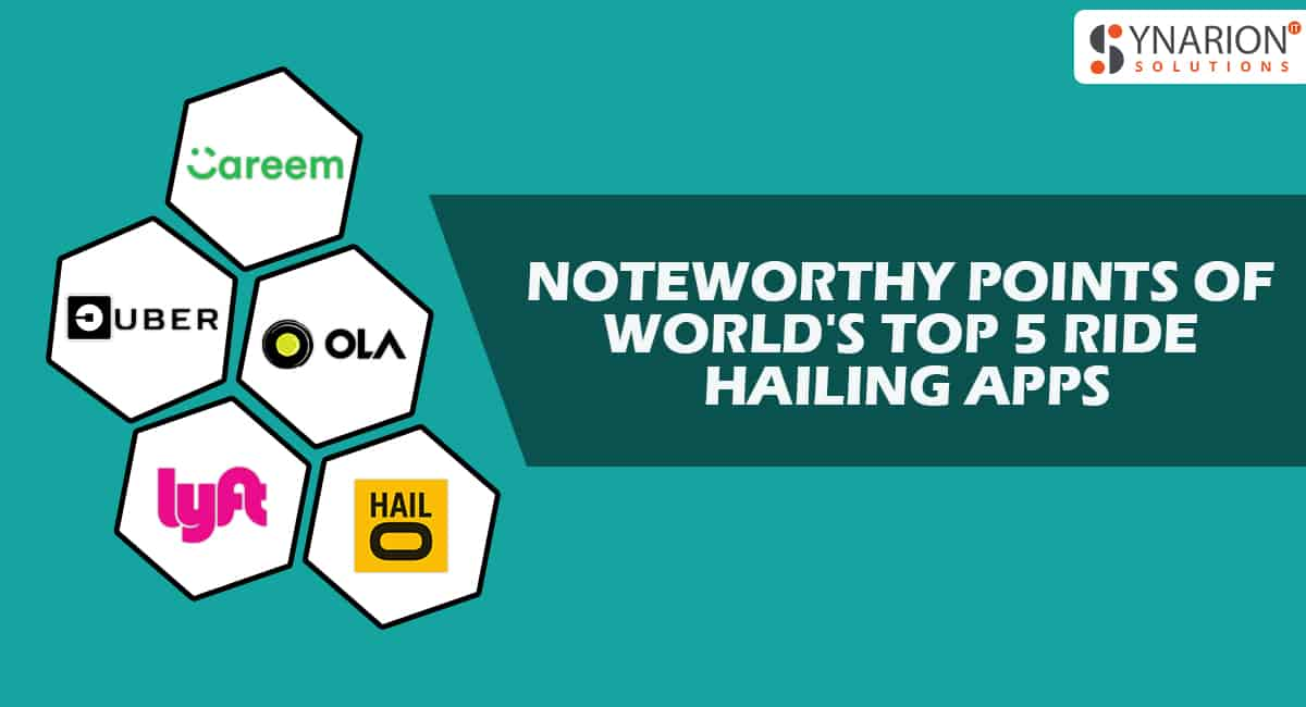Noteworthy points of world's top 5 Ride hailing Apps