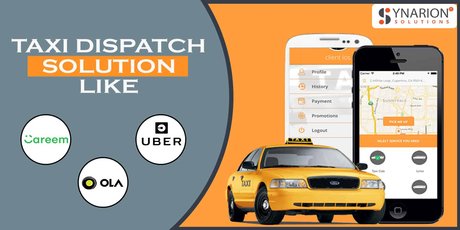 Taxi Dispatch Solution Similar To Ola, Uber and Careem