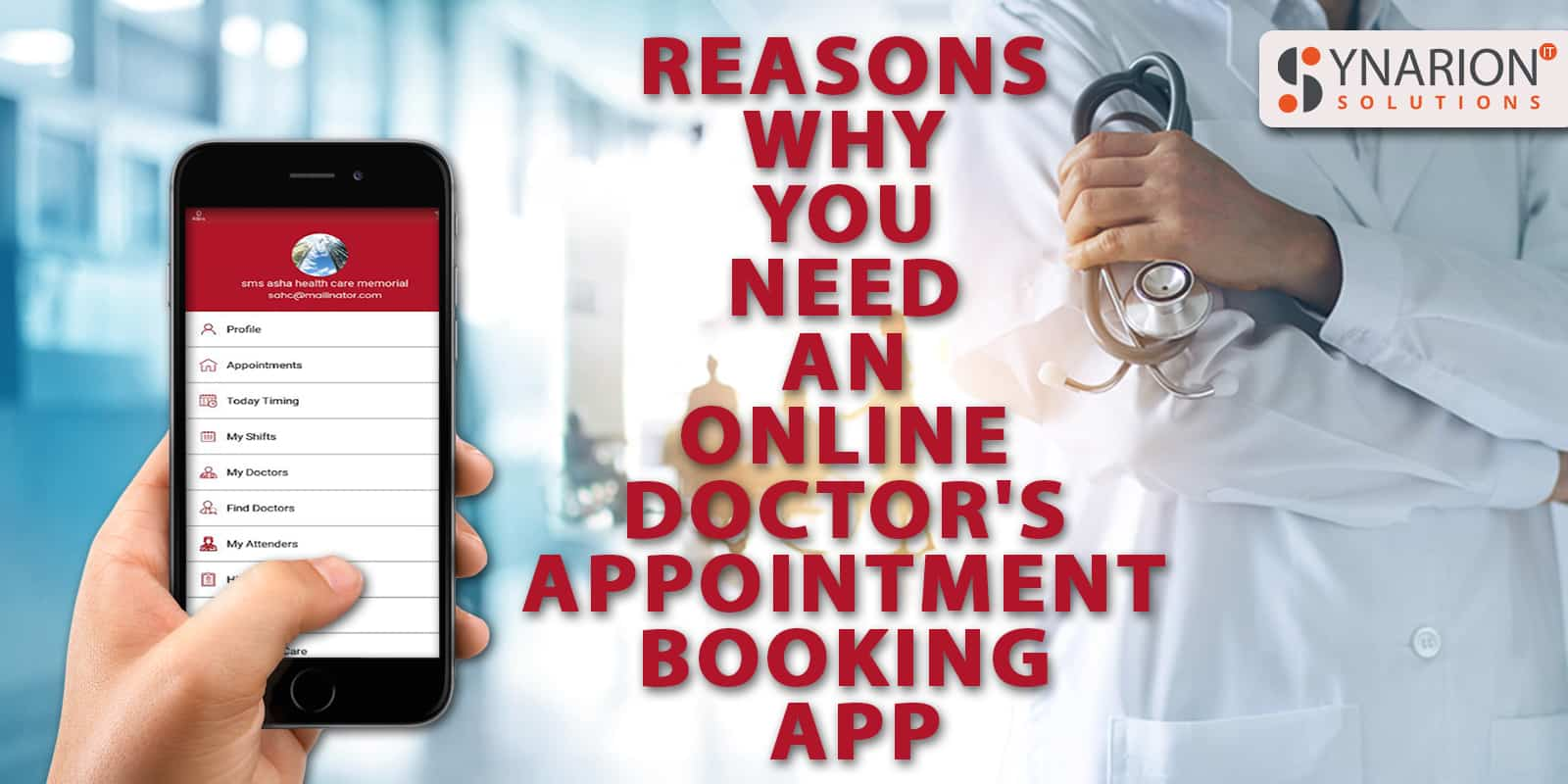 Reasons why you need an online doctors appointment booking app