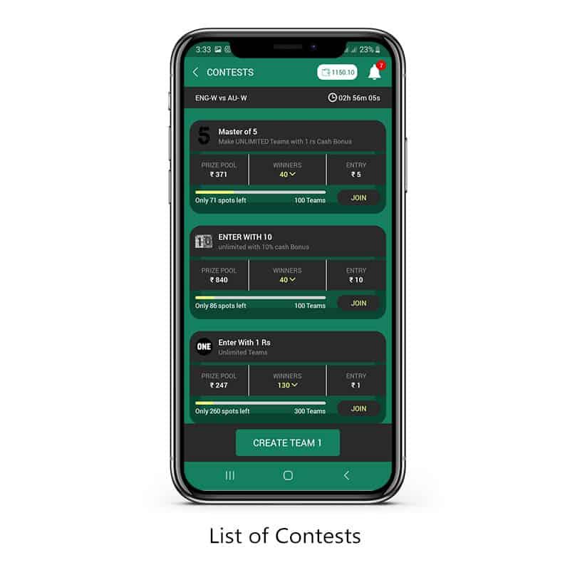 Contest list betnball