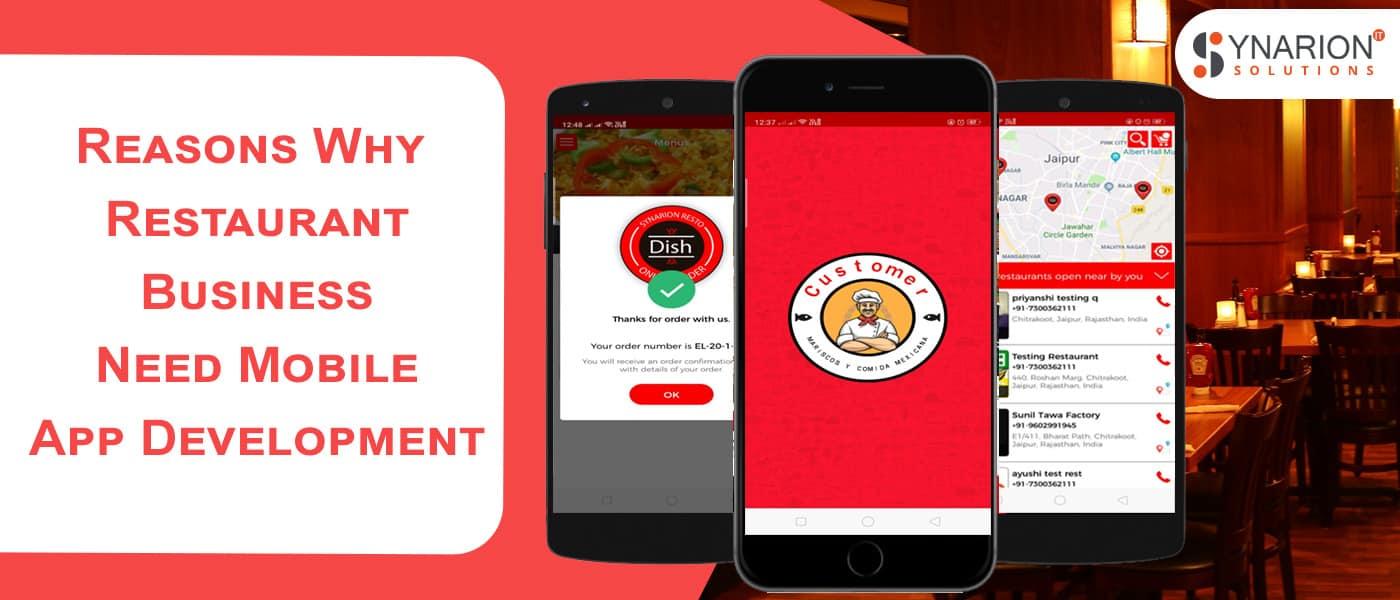 why a restaurant busniess needs a mobile app development