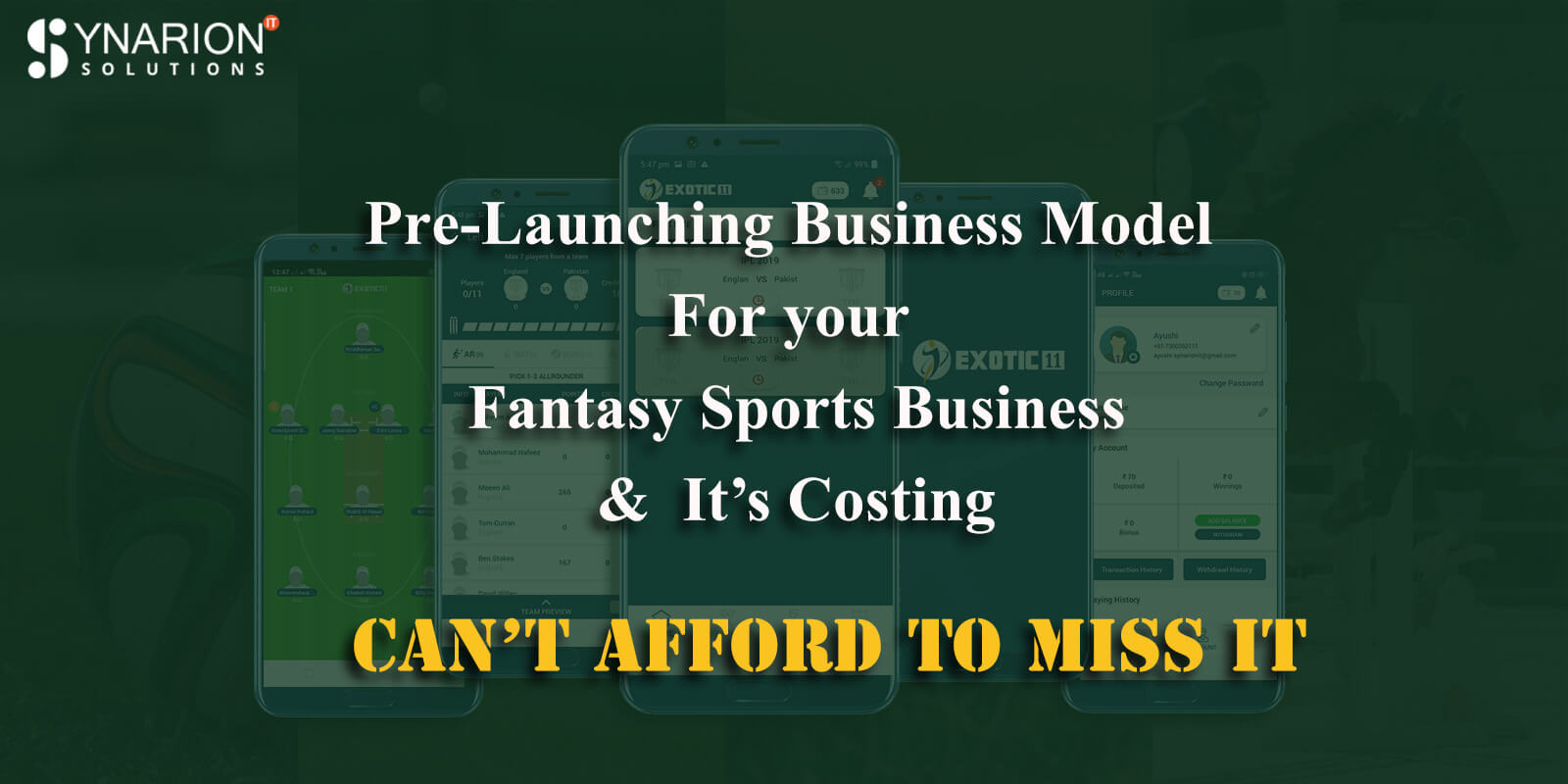 Pre-Launching Business Model for your Fantasy Sports Business and it's costing Can't afford to miss it