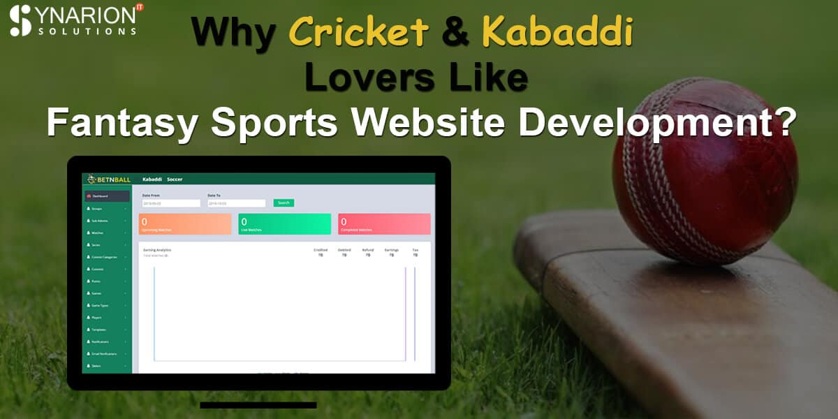 Why Cricket & Kabaddi Lovers Like Fantasy Sports Website Development?