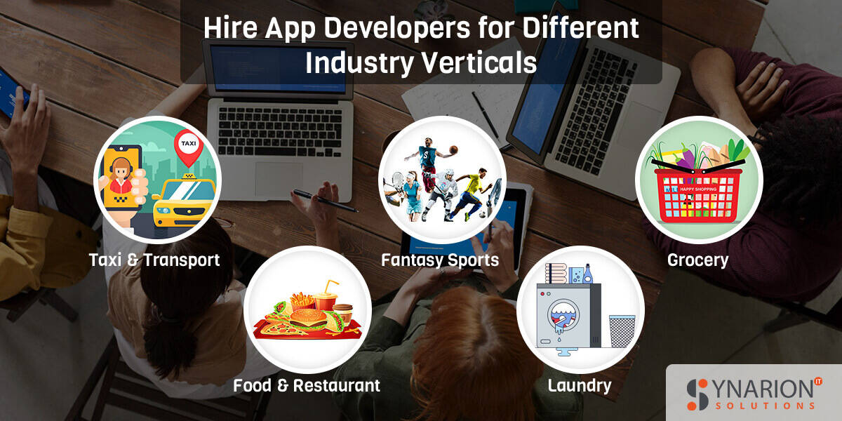Hire App Developers for Different Industry Verticals