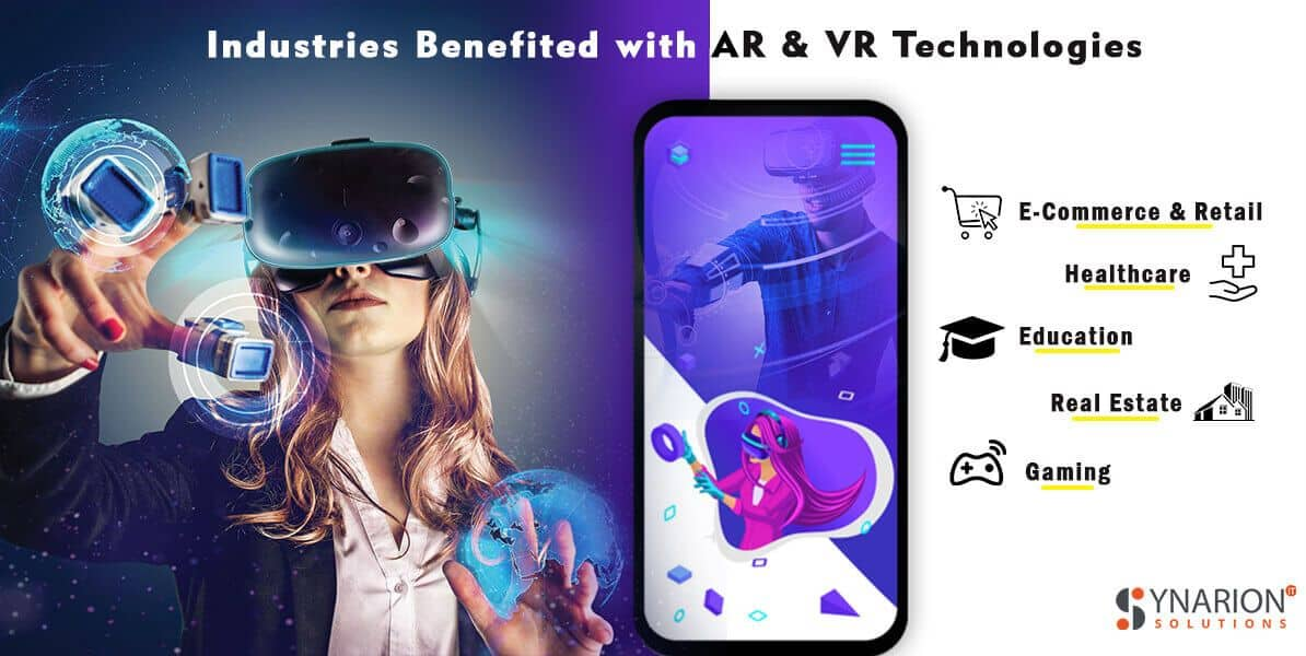 Industries Benefited with AR & VR Technologies