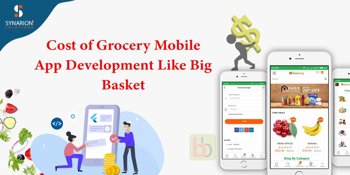cost of grocery mobile app development