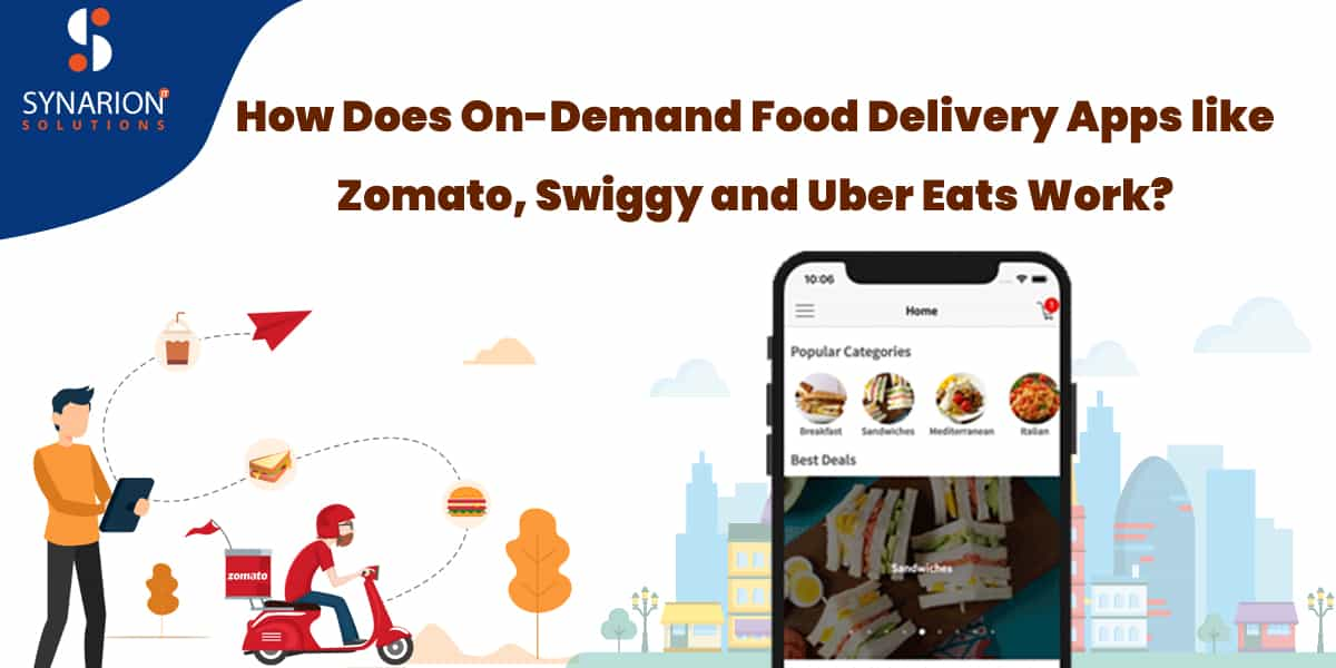 How Does On-Demand Food Delivery Apps Like Zomato, Swiggy And Uber Eats Work?