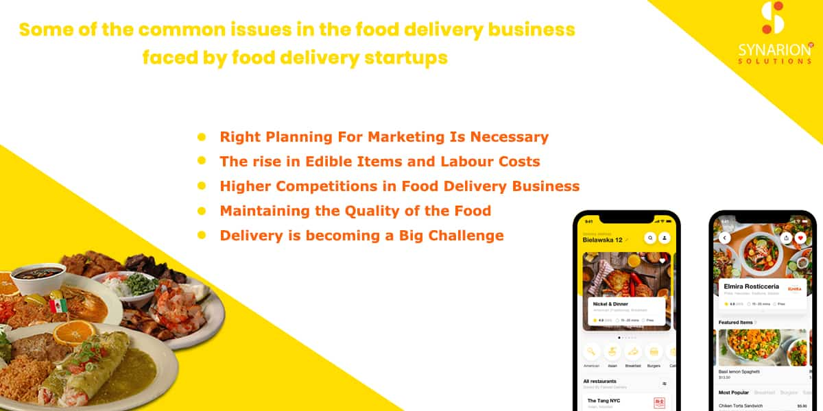 Some Of The Common Issues In The Food Delivery Business Faced By Food Delivery Startups