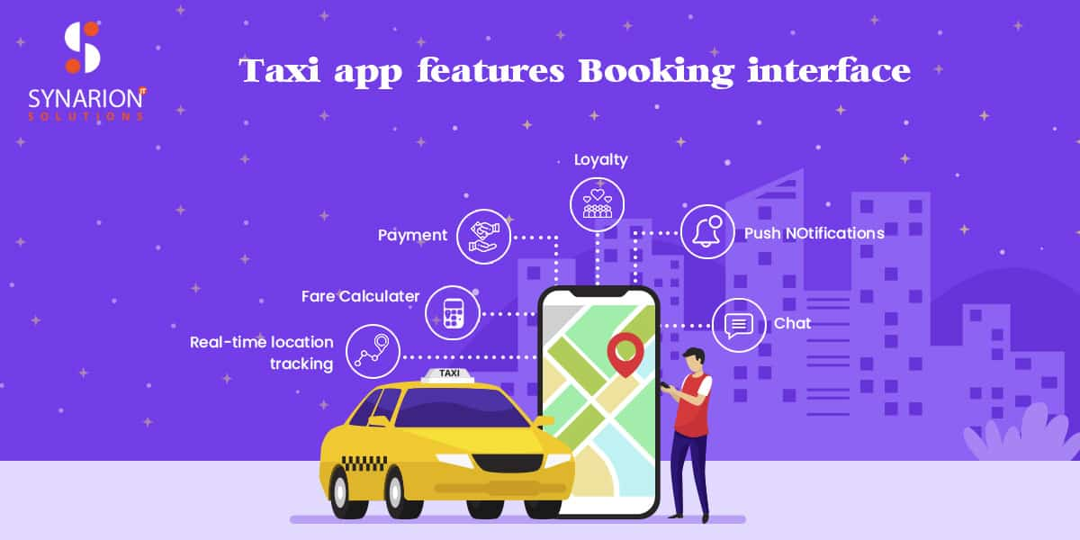 features of taxi app
