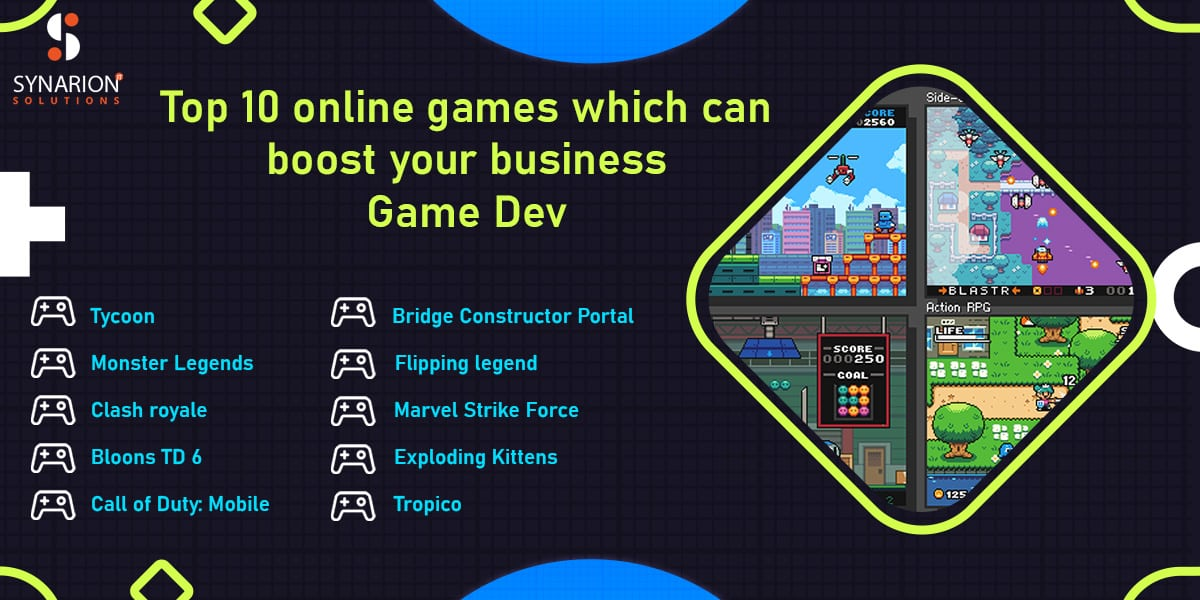 Top 10 online games which can boost your business