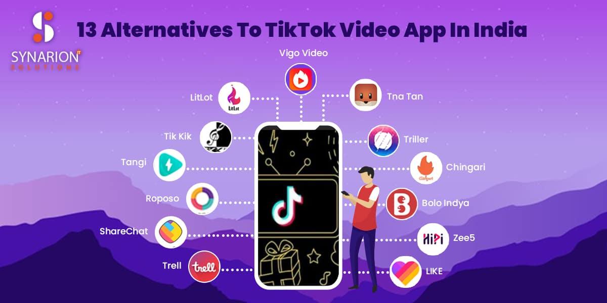 Top 13 Alternatives To TikTok Video App In India