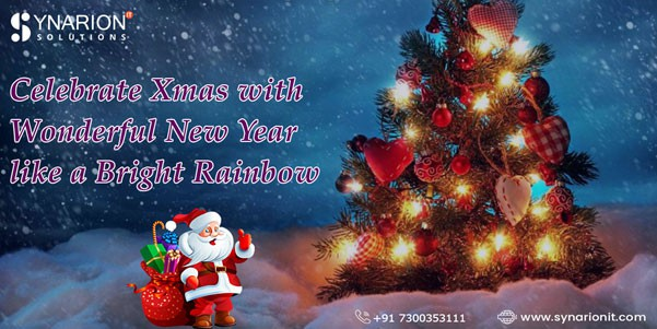 Celebrate Xmas with Wonderful New Year like a Bright Rainbow