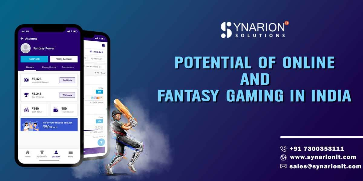 Potential of Online and Fantasy Gaming in India
