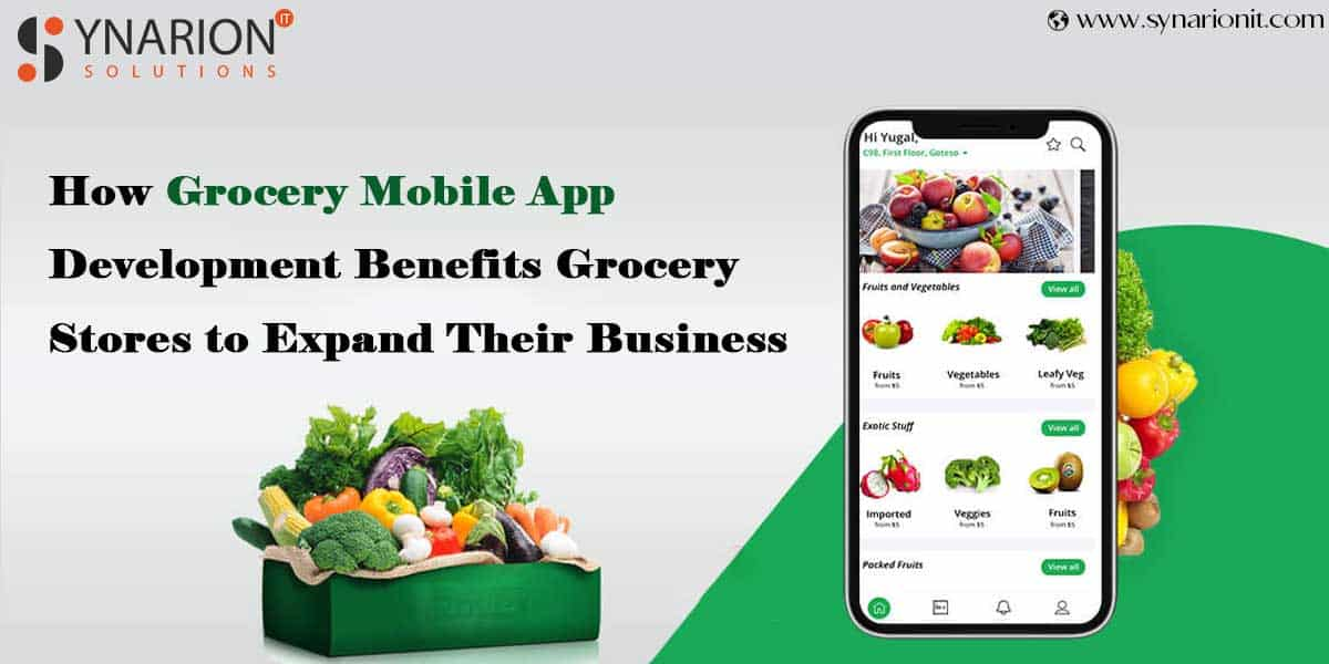 How Grocery Mobile App Development Benefits Grocery Stores to Expand Their Business